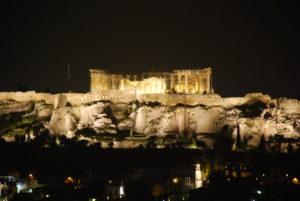 Nächtlicher Parthenon